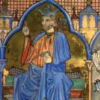 Fernando III en un libro Tumbo de la Catedral de Santiago de Compostela