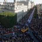 Vista aérea de la Avenida de la Constitución en Semana Santa