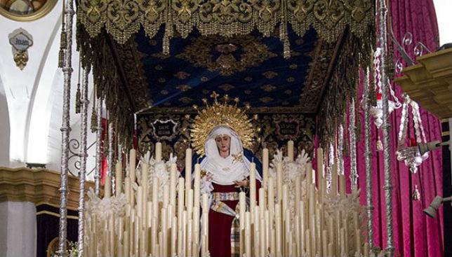 La Virgen de Guadalupe, vestida de hebrea en 2017 / FOTO: @Hdad_Las_Aguas.
