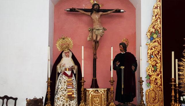 Cristo de la Exaltación y Virgen del Subterráneo de la Cena, juntos en el mismo altar / ABC