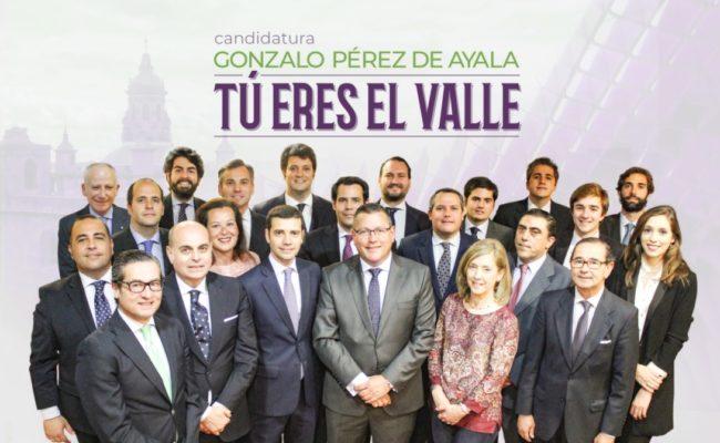 Candidatura de Gonzalo Pérez de Ayala al Valle.