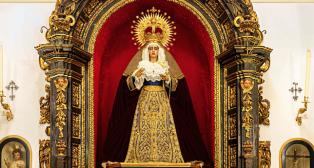 Retablo de la Virgen de la Caridad del Baratillo: Foto: Emilio Simón.
