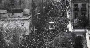 La Macarena saliendo de la Anunciación el Domingo de Resurrección de 1947. Foto: HispalisCofrade.