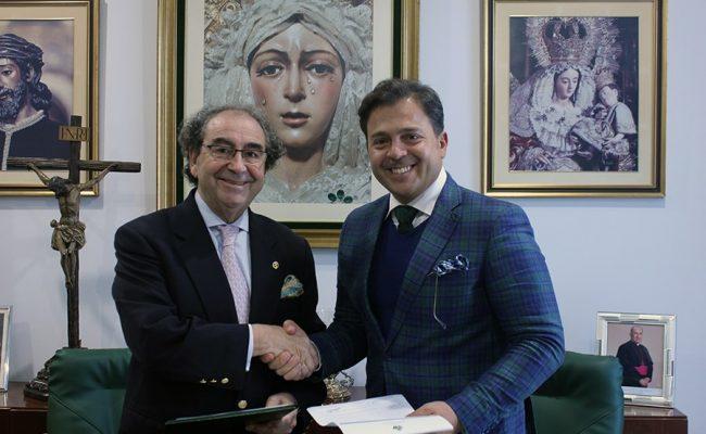 José Antonio Fernández Cabrero y Manuel Martín Nieto. Foto: Hdad de la Macarena.