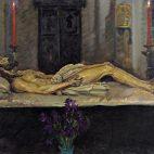 Lienzo del Cristo Yacente de Alfonso Grosso.