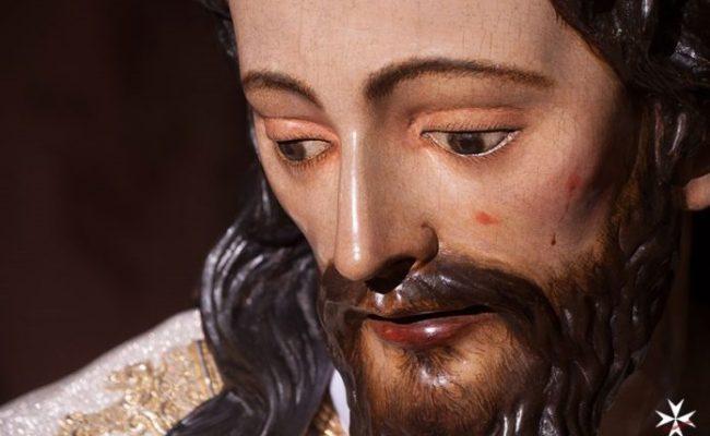 El Señor del Silencio de la Amargura vuelve al culto tras su restauración. Foto: Hdad de la Amargura.