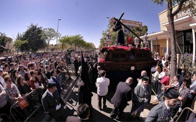 Jesús del Divino Perdón de Alcosa el Sábado de Pasión de la Semana Santa de Sevilla. Foto: J.M. Serrano