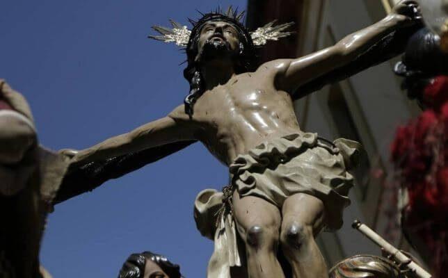El Cristo de la Exaltación el Jueves Santo. Foto: Juan Flores