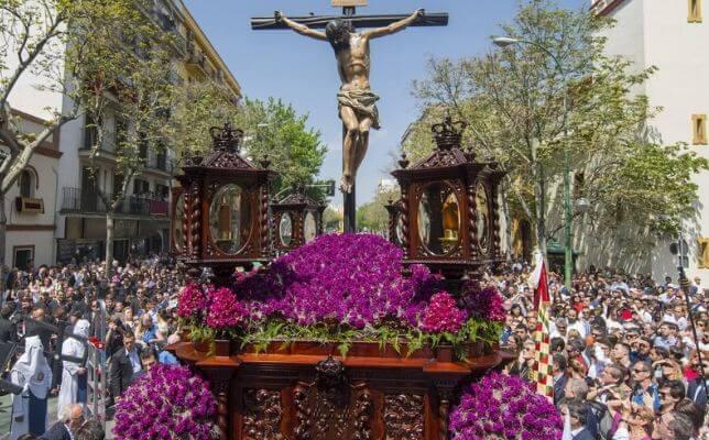 Cristo de la Fundación de los Negritos el Jueves Santo. Foto: Juan José Úbeda