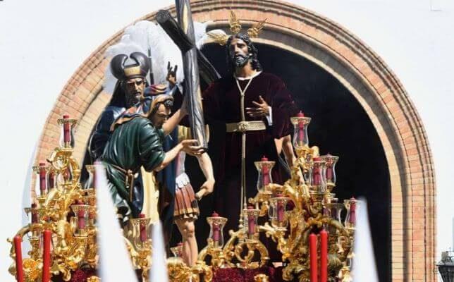 El Señor de la Victoria de la Paz el Domingo de Ramos de la Semana Santa de Sevilla. Foto: Juan José Úbeda