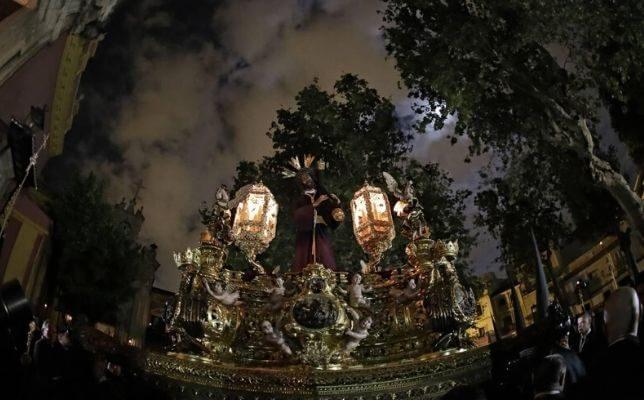 Jesús del Gran Poder la Madrugada de la Semana Santa de Sevilla.