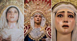 Las tres etapas de la Virgen de Guía de la Lanzada / ABC