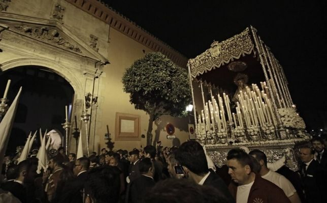 Virgen de la Cabeza de las Siete Palabras el Miércoles Santo. Foto: Juan Flores