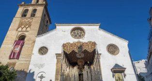 Palio de la Virgen de Gracia y Amparo el pasado Martes Santo de 2019.