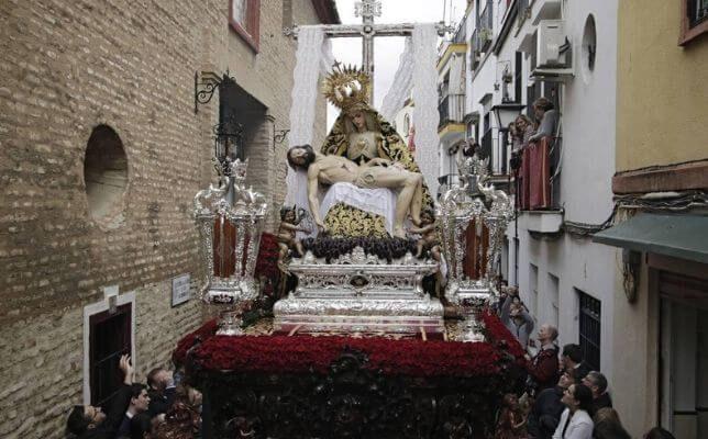 Virgen de la Piedad de los Servitas el Sábado Santo. Foto: Juan Flores