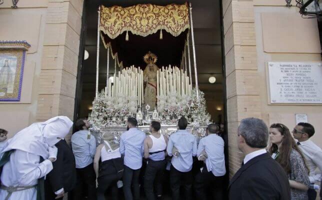La Milagrosa el Sábado de Pasión. Foto: Juan Flores