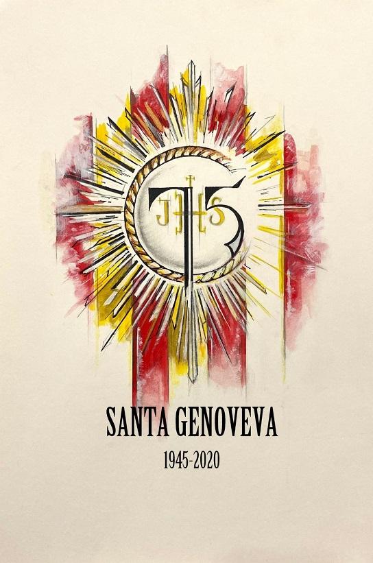 Detalle del cartel del 75 aniversario de Santa Genoveva / HDAD.