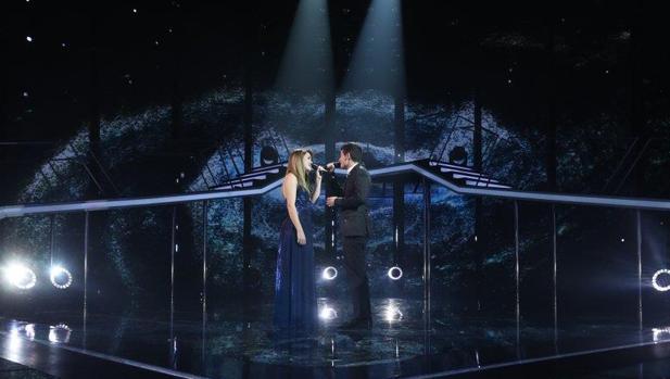 Alfred y Amaia durante una de sus actuaciones en la gala final de Operación Triunfo