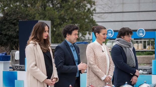 Eva González, Pepe Rodríguez, Samantha Vallejo-Nágera y Jordi Cruz, durante la prueba de hoy