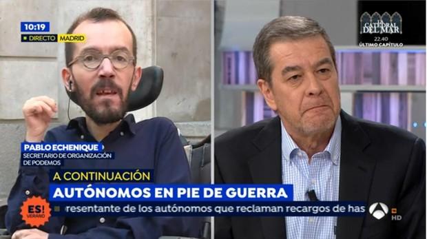 Pablo echenique ataca a los periodistas de espejo p blico no les veo muy inteligentes - Espejo publico hoy ...