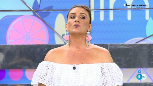 Carlota Corredera pidiendo disculpas tras su escatológico desliz