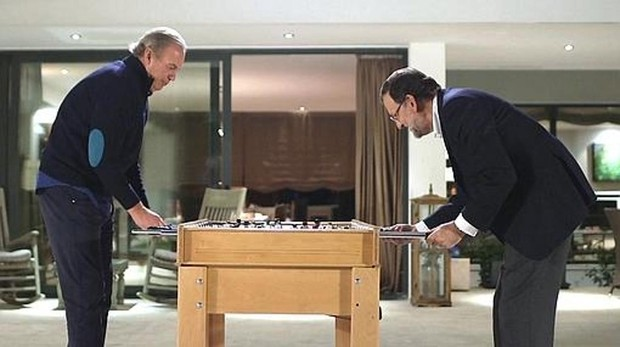 Bertín Osborne y Mariano Rajoy