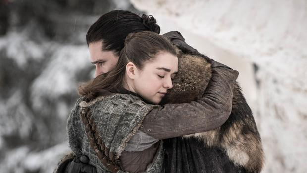 Jon Nieve se reencontró con Arya Stark en Invernalia