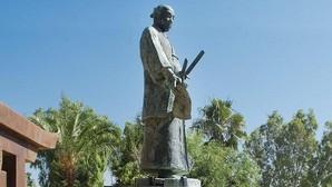 Estatua de un samurai en Coria