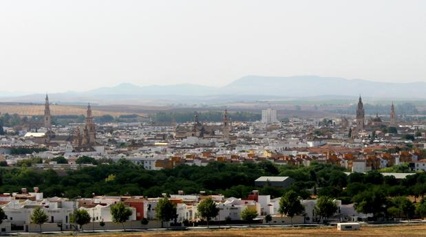 Vista del horizonte de Écija desde el cerro de San Cristóbal