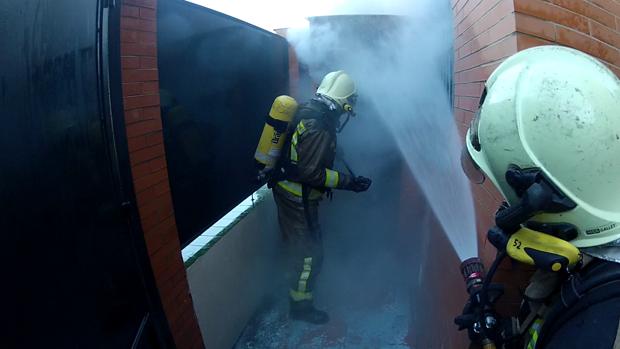 Imagen de archivo de una intervención de los bomberos del Aljarafe