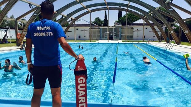 El monitor de la piscina municipal de salteras que hac a for Piscina municipal almeria
