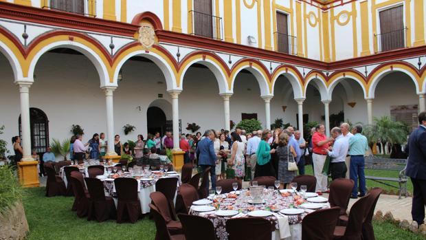 Una imagen del interior del monasterio de Consolación durante una celebración