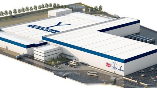 Recreación virtual de la futura fábrica de Grupo Ybarra en Dos Hermanas