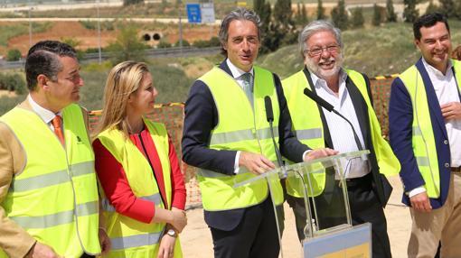 Antonio Sanz, Anabel Jiménez, Íñigo de la Serna, Francisco Toscano y Juanma Moreno
