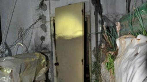 La entrada al palomar donde permaneció recluido durante años