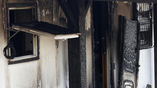 Detalle de la vivienda pasto del fuego