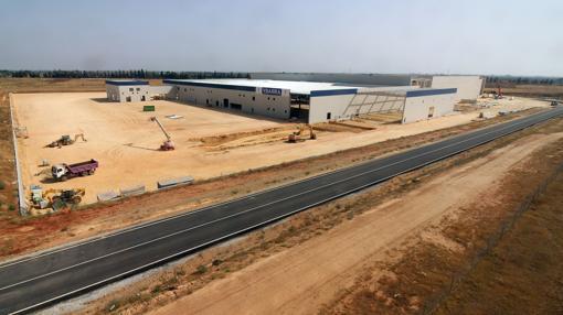 Estado actual de los trabajos de construcción de la nueva fábrica del Grupo Ybarra