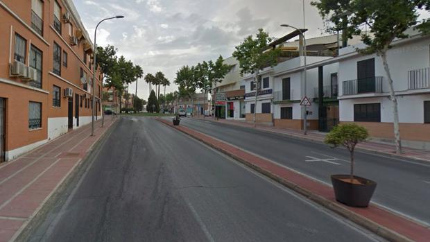 Avenida de España de Dos Hermanas, el lugar donde ha ocurrido el atropello