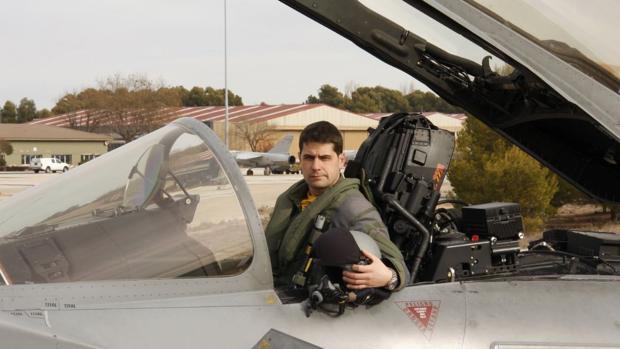 El capitán del Ejército del Aire Borja Aybar