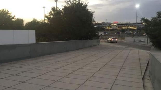 Zona en la que se construirá la pasarela ciclopeatonal