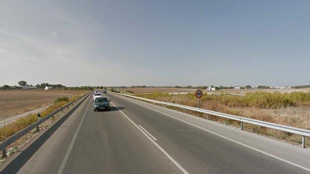 Carretera A-471 donde se ha producido el accidente