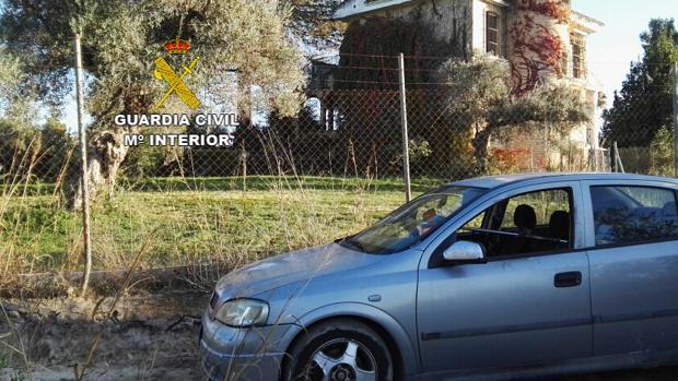 Vehículo incautado por la Guardia Civil