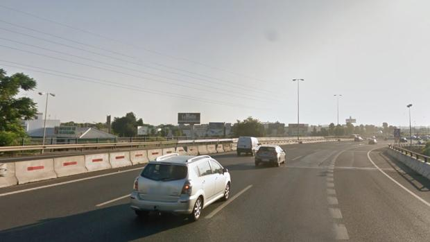 Autovía a-49 a la altura del municipio de Camas