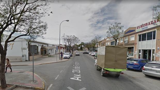 Captura de pantalla de la Avenida 28 de febrero, donde sucedieron los hechos.