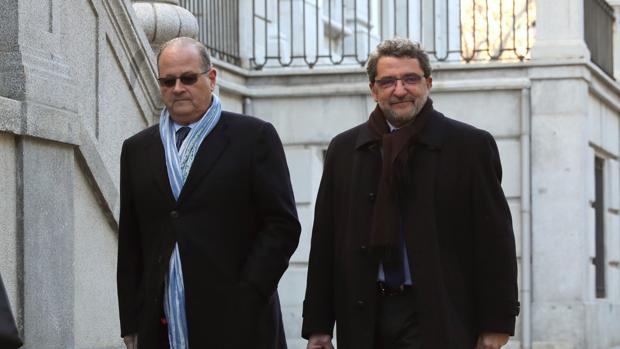Gutiérrez Limones, esta mañana a su llegada al Tribunal Supremo
