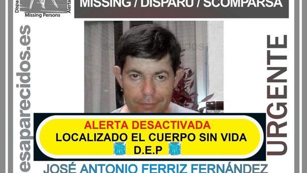 Localizado sin vida el vecino de Alcalá del Río desaparecido el pasado 22 de enero