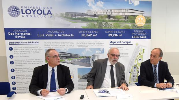 El equipo directivo de la Universidad Loyola Andalucía colocarán la primera piedra de su nuevo campus el 7 de marzo