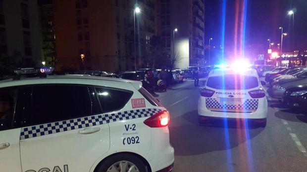 La Policía Local de Castilleja en el lugar del suceso