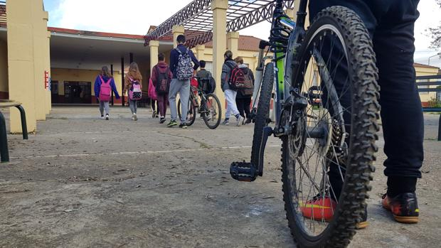 El instituto premia a la comunidad educativa por moverse en bicicleta, a pie o en patines.