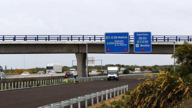 Imagen de la carretera que está en obras